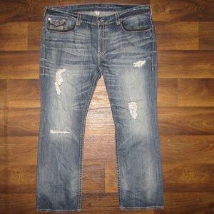 True Religion Blue Jeans Size 46 Outline Straight